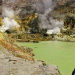 White Island's crater lake